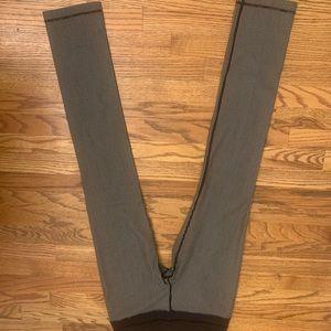 Lululemon Straight Black & White Pinstripe Pants 6